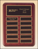 "12"" X 15"" Rosewood stained finish perpetual plaque 24 plates"