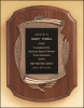 "11"" X 15"" American walnut Airflyte plaque with Black plate"