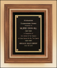 "12"" X 14"" Solid American walnut framed plaque with gold trim"
