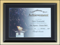 "11"" X 14"" Black glass certificate plaque"