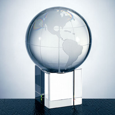 OCPRC560CBEL - Small World Globe With Cube Base